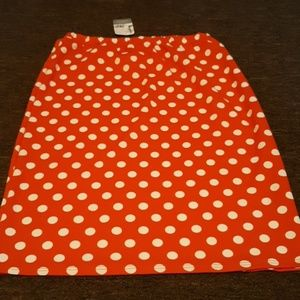 Polka Dot Pencil Skirt.
